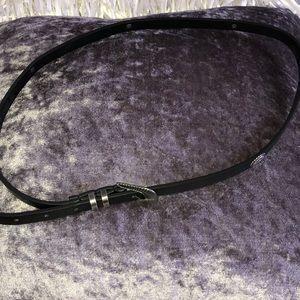Black Fashion Belt with Silver Details